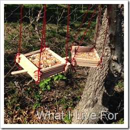 Popsicle Stick Bird Feeder @ whatilivefor.net