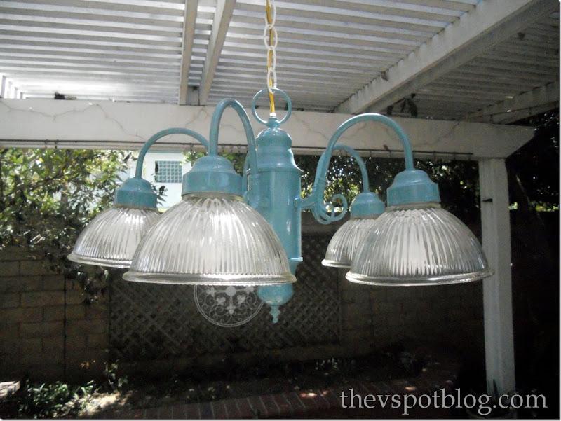 turquoise, chandelier, light, outdoor