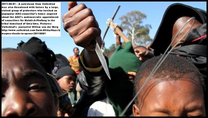 QwaQwa antiANC protestors threaten white journalists June32011