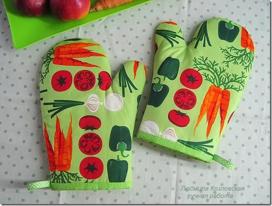 Сшить прихватку рукавицу для кухни своими руками7