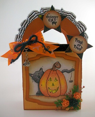 Scaredy Cat Halloween Treat Bag