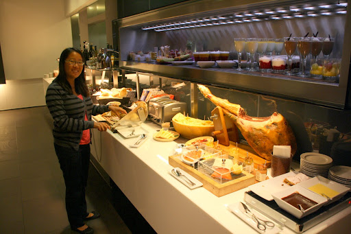 A quality spread on the buffet line...cured ham, anyone?