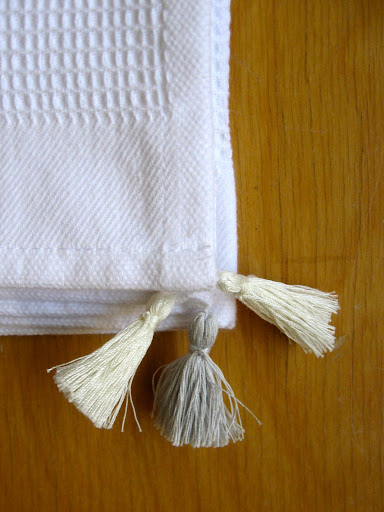 ecru and white to tie in the scents and feel towel
