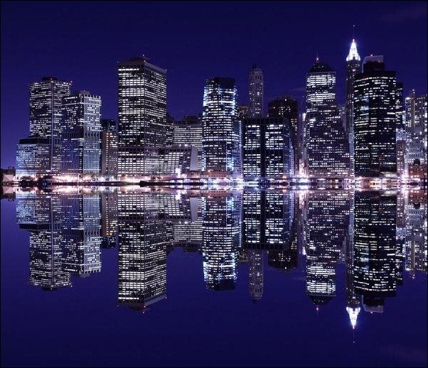 2. New York City, NY, USA reflection in water
