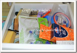 Craft Drawer Before