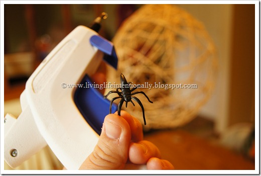 gluing on some spiders