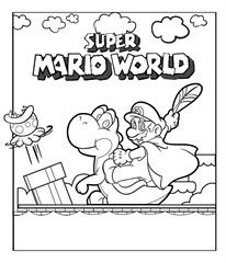 Desenhos do Mario Bross para colorir