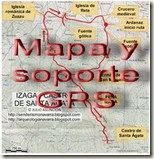 Mapa y soporte GPS - Mondúver - Cueva del Parpalló - Cueva de les Mallaetes