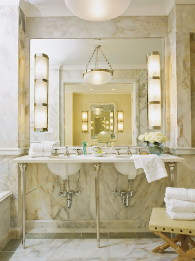 This is such a serene bathroom.  (Photo by Brian Doben)