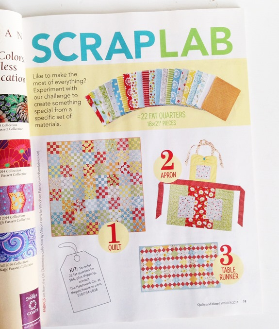Scrap Lab, Quilts and More Winter 2014