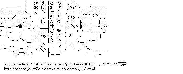[AA]ドラえもん&野比のび太 (ドラえもん)