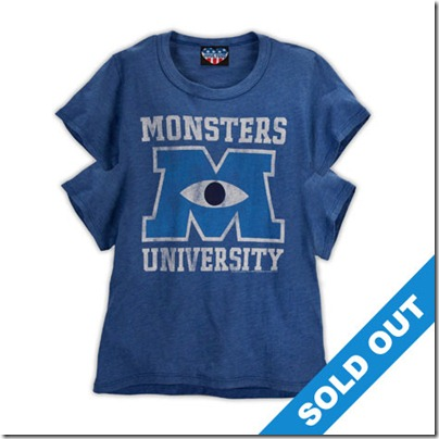 Monster University Official Clothing - Blue Vintage Tee Shirt with 4 arms Women