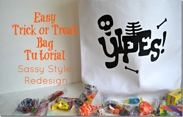 trick or treat bag tutorial pin sassy style redesign