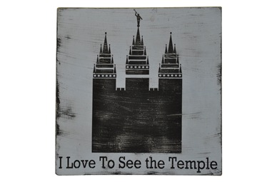I love to see the Temple silhouette