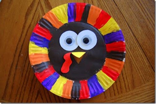 Thanksgiving Turkey Plate for Preschool kids