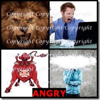 ANGRY- 4 Pics 1 Word Answers 3 Letters