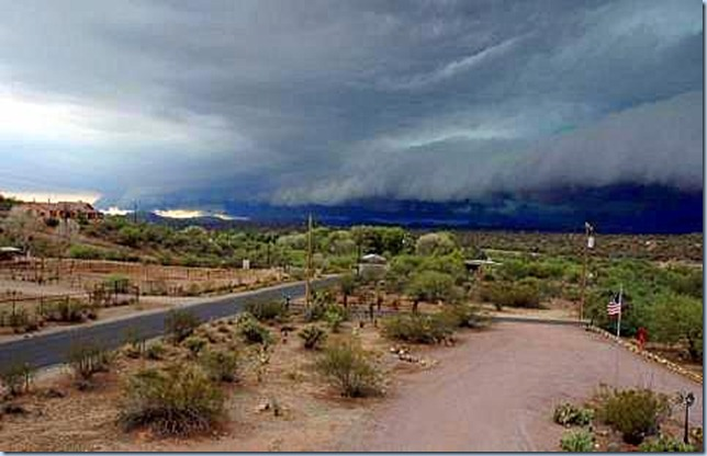 Storm near Wickenburg July 2012