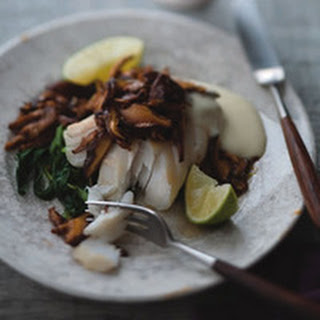 Roasted Cod with Sesame Mushrooms