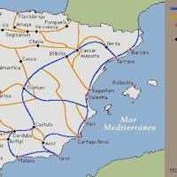 00c.- Vias romanas en Hispania