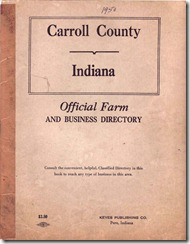 plat book carroll 1950
