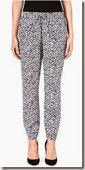 Michael Kors Batik Print Silk Trousers