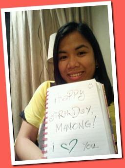 LynLyn greets Manong Bryant 31st Birthday_January 26 2012