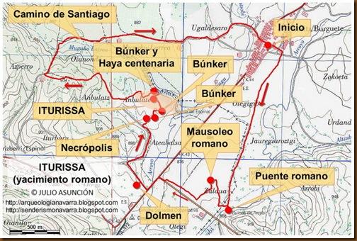 Mapa ruta Iturissa