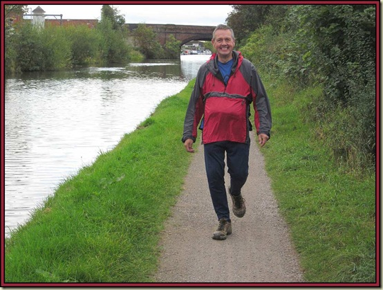 JJ on the Bridgewater Canal towpath in Timperley