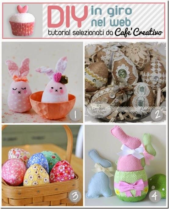 cafecreativo-tutorial fai da te pasqua 2015 - uova shabby - uova stoffa - coniglietti