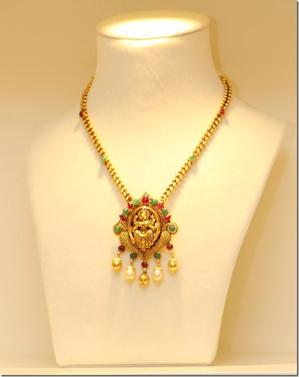 Gold_Necklace_Lakshmi_Pendant