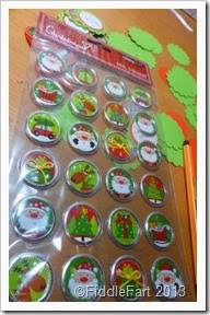 Hobbycraft Christmas Foil stickers