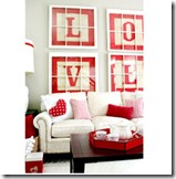 LOVE Alphabet block letter art