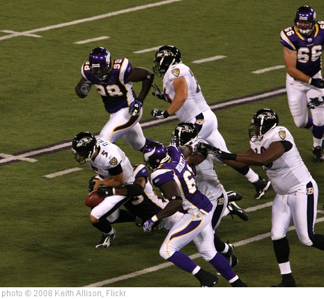 'Joe Flacco fumble' photo (c) 2008, Keith Allison - license: http://creativecommons.org/licenses/by-sa/2.0/
