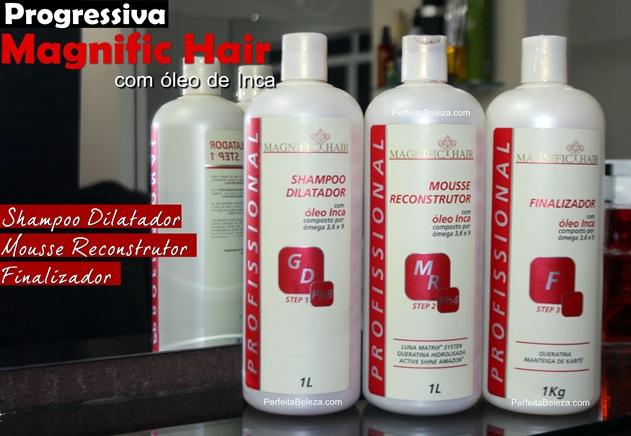 progressiva magnific hair com óleo de inca