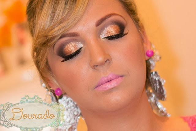maquiagem dourada para formatura