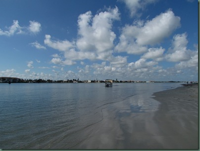 pretty clouds beach at fort pierce inlet