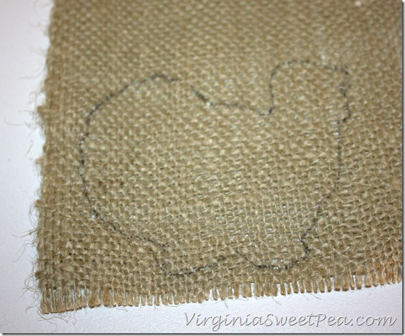 Thanksgiving Card Trace on Burlap