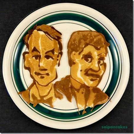 Bill Nye / Neil deGrasse Tyson pancake