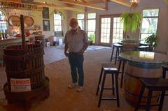 inside the Fiasco Winery is a very nice raked gravel floor