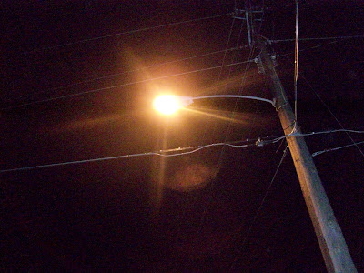 The yellow glow of the traditional bulbs used in streetlights will be replaced with bright white LED lights once they burn out