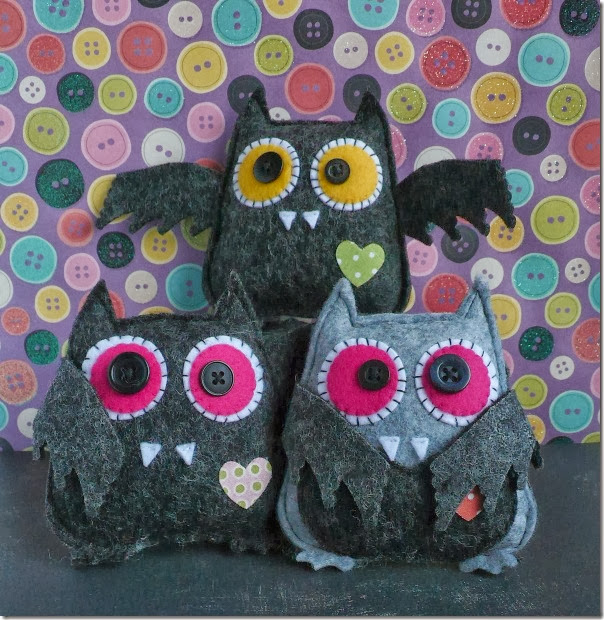 cafe creativo - Anna Drai - sizzix big shot - owl bat halloween felt (1)b