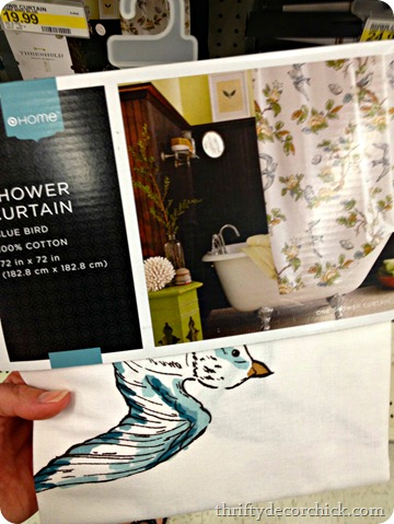 bird shower curtain Target