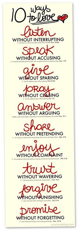 10 manieras de amar