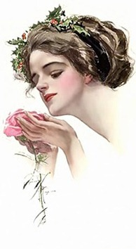 LADY WITH  ROSE -1