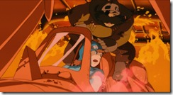 Nausicaa Escaping the Burning Airship