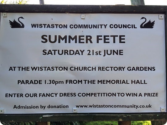Wistaston Village Fete - this Saturday 21st June