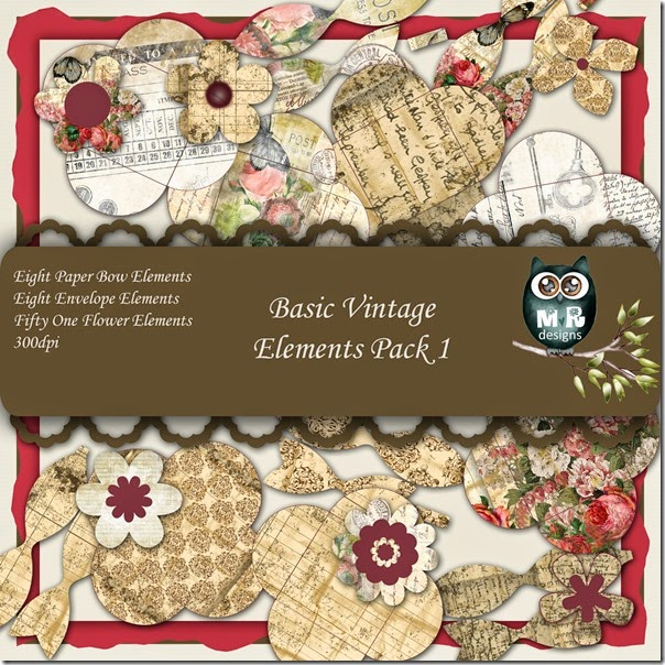 Basic Vintage Elements Front Sheet Pack 1