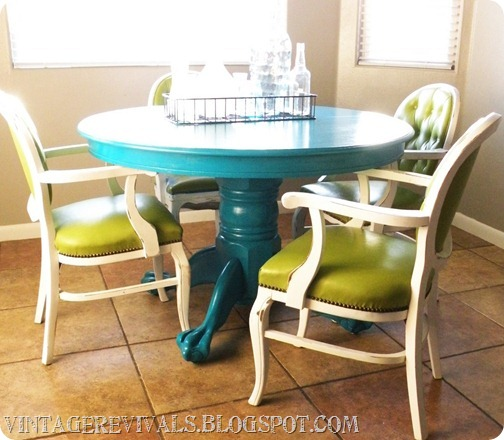 Meet my new kitchen table and command max hvlp sprayer for Painted kitchen table ideas