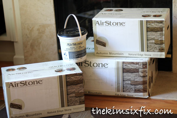Airstone for fireplace