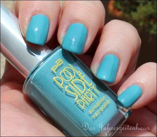 0 P2 Limited Edition LE Pool Side Party Nagellack 020 Turquoise Sky